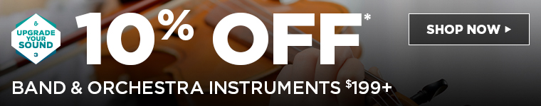 10% OFF BAND & ORCHESTRA INSTRUMENTS